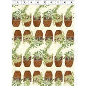 1 Yard Cultivate Your Joy by Peg Conley from Clothworks 100% Cotton Quilt Gardening Fabric Y1434-57 Cream
