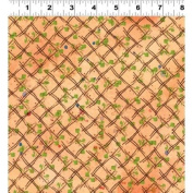 1 Yard Cultivate Your Joy by Peg Conley from Clothworks 100% Cotton Quilt Gardening Fabric Y1431-35 Light Orange