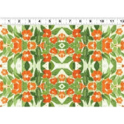 1 Yard Cultivate Your Joy by Peg Conley from Clothworks 100% Cotton Quilt Gardening Fabric Y1433-36 Orange