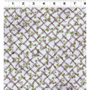 1 Yard Cultivate Your Joy by Peg Conley from Clothworks 100% Cotton Quilt Gardening Fabric Y1431-26 Light Purple