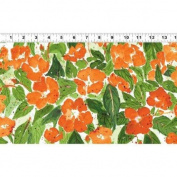 1 Yard Cultivate Your Joy by Peg Conley from Clothworks 100% Cotton Quilt Gardening Fabric Y1435-36 Orange