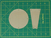 Dresden Plate Straight Quilting Templates with 0.6cm Seam Allowance - 41cm Block - 2 Piece Acrylic Template Set