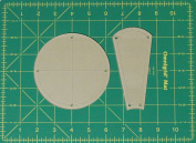 Dresden Plate Curved Quilting Templates with 0.6cm Seam Allowance - 41cm Block - 2 Piece Acrylic Template Set