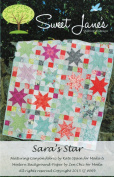 Sara's Star Quilt Pattern, Fat Quarter & Layer Cake 25cm Squares Friendly, 100cm by 130cm Finished Size