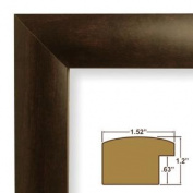 24x 24 Picture / Poster Frame Smooth Finish 3.9cm Wide Walnut Brown