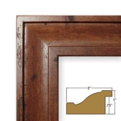 16x 20 Picture / Poster Frame Smooth Wood Grain Finish 5.1cm Wide Distressed Walnut Brown