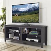 WE Furniture Wood TV Stand, 150cm , Charcoal