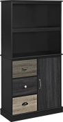 Altra Blackburn Storage Bookcase with Multicoloured Door and Drawer Fronts, Black