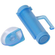 Yingwei Blue Rolling Squeezer Toothpaste Dispenser Tube Partner Sucker Hanging Tool