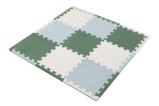 Safe antibacterial mat 9 Disc green with a border in the CB Japan Anshin