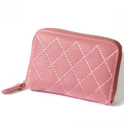 H & J Travel Zip Around RFID Blocking Leather Wallet Identity Protection Credit Card Holder