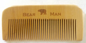 Bear Man Grooming Natural Pear Wood Beard and Moustache Comb