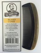 Col Ichabod Conk Handcrafted Green Sandalwood & Horn Beard Comb plus Free course/fine comb