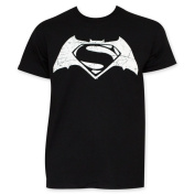 Batman VS Superman Black And White Movie Logo T-Shirt