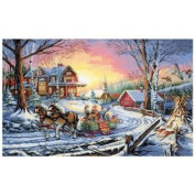 Gold Collection Pleasures Of Winter Cntd X-Stitch Kit