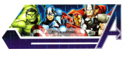 Marvel Avengers Assemble Group Hulk Iron Man Captain America Thor Removable Wall Decal Sticker Home Decor 18cm wide x 7.6cm tall