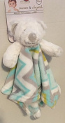 Blankets & Beyond Security Blanket Bunny with Chevron Print