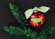 Coton Colours Christmas Critters Deer Glass Ornament