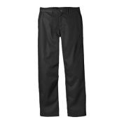 Men's Dickies Relaxed Fit Cotton Flat Front Pant 80cm Inseam Black
