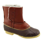 Women's Superior Boot Co. Sherpa Pull-On Duck Boot Brown
