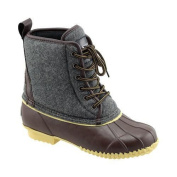Women's Superior Boot Co. Felt Lace Up Duck Boot Grey