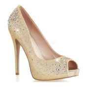 Women's Fabulicious Heiress 22R Nude Shimmering Fabric