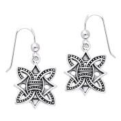 Jewellery Trends Sterling Silver Viking Borre Knot Dangle Earrings