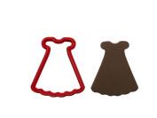 Ruffled Dress Cookie Cutter