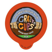 Crazy Cups Decaf Peppermint Chocolate Mocha Flavoured Coffee Single Serve Cups