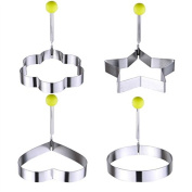 4pcs Cute Stainless Steel Fried Egg Mould Pancake Ring Kitchen Gadget Tool