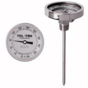Tel-Tru 33100676 Model GT300 Non-Reset Bi-Metal Process Grade Thermometer, Stainless Steel, 7.6cm Dial, 1.3cm NPT Back Connexion, 0-100 Deg C