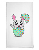 TooLoud Bunny Hatching From Egg Flour Sack Dish Towel