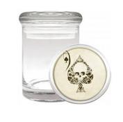 Ace of Spades Skull Medical Odourless Glass Jar