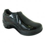 Women's Genuine Grip Footwear Slip-Resistant Slip-on Zipper Black Patent