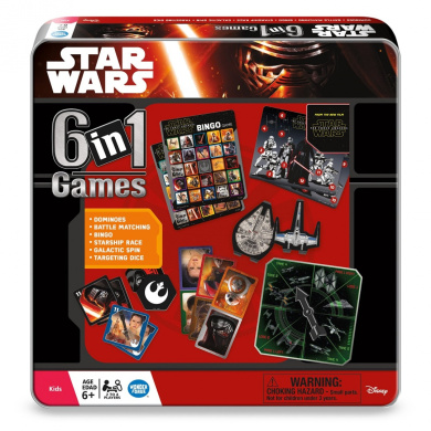 Star Wars The Force Awakens 6-in-1 Tin Board Game