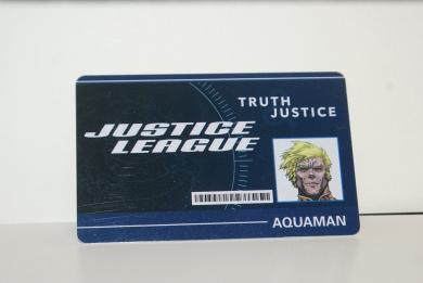 DC Heroclix World's Finest Aquaman WFID-005 ID Card UNUSED CODE