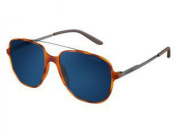 Carrera CA119S Square Sunglasses, Matte Black/Grey, 55 mm