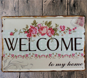 Vintage Metal Sign - Welcome to my House