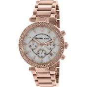 Michael Kors Parker Rose Gold Chronograph Ladies Watch MK5491