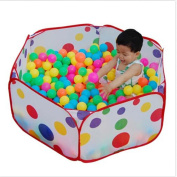 Kids Play Tent Playpen Ball Pit Pool with Red Zippered Storage Bag -Size 80X80X30CM