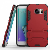 Galaxy S7 Edge Case,SAVYOU [Tough Armour Series] Dual Layer Protective Hybrid Armour Case Advanced Shock Absorption Protection Case with Stand Feature for Samsung Galaxy S7 Edge