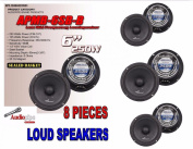 (8) AUDIOPIPE APMB-6SB-B SEALED BACK 17cm 15cm FULL RANGE FULL CASE LOUDSPEAKER