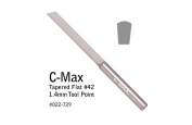 GRS® Tools 022-729 C-Max Carbide Tapered Flat Graver # 42, 1.4 mm Tool Point