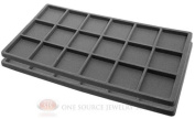 2 Grey Insert Tray Liners W/ 18 Compartments Drawer Organiser Jewellery Displays