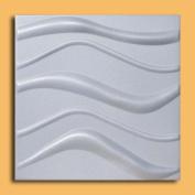 Wave White (50cm x 50cm Foam) Ceiling Tile - High Density Foam