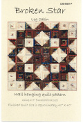 Broken Star Log Cabin Scrap Quilt Pattern by Laundry Basket Quilts #LBQ-BS01-P