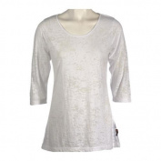 Women's Ojai Clothing Burnout Scoop Neck White
