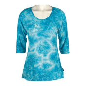 Women's Ojai Clothing Burnout Scoop Neck Turquoise