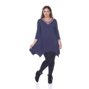 Women's Plus-size 'Sol' Glimmering Embellished Neck Top/ Tunic