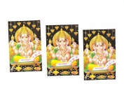 Yapree Handmade Ganesh Picture Poster : Set of 3